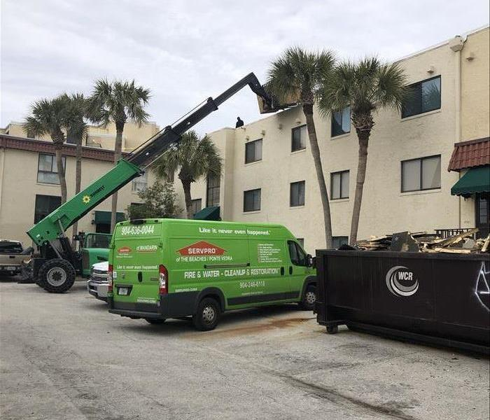 Roof Leak at Beaches Condo Cause Water Damage Before