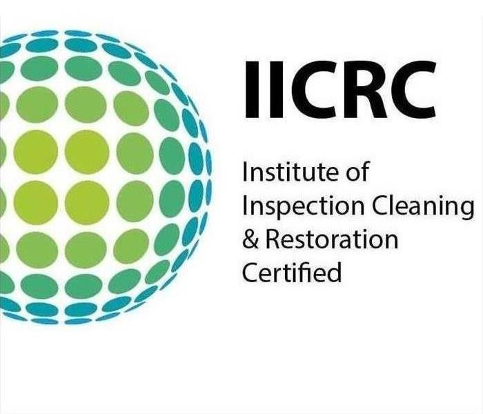 The photo shows clip art consisting of the IICRC logo.